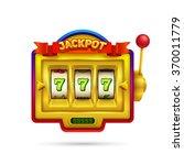 slot machine illustration...   Shutterstock .eps vector #370011779