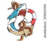 vector illustration of shark...   Shutterstock .eps vector #370014704
