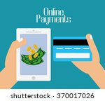 online payments icons | Shutterstock .eps vector #370017026