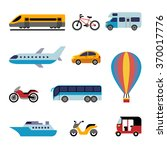 set of color flat transport... | Shutterstock .eps vector #370017776