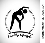 fitness and sport lifestyle  | Shutterstock .eps vector #370021664