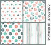 set of simple patterns. ... | Shutterstock .eps vector #370024070