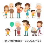 family and kids. vector flat... | Shutterstock .eps vector #370027418