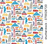 travel seamless pattern with... | Shutterstock .eps vector #370028720