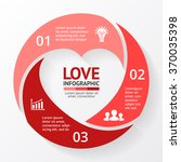 vector heart circle infographic.... | Shutterstock .eps vector #370035398