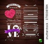 rustic wedding invitation.... | Shutterstock .eps vector #370038584