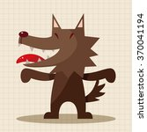 animal wolf cartoon theme... | Shutterstock .eps vector #370041194