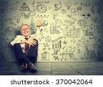 happy senior business man... | Shutterstock . vector #370042064