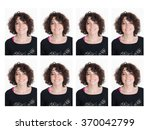 Stock photo identity pictures for official document passport etc 370042799
