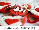 valentine's day cookies. heart... | Shutterstock . vector #370050134