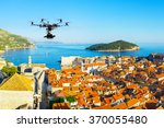 professional heavy drone with a ... | Shutterstock . vector #370055480