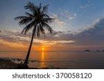 Romantic Sunset Over The Beach. ...