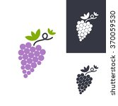grapes symbols. vector isolated ... | Shutterstock .eps vector #370059530