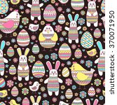 seamless easter pattern with... | Shutterstock .eps vector #370071950