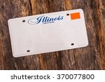 blank illinois license plate on ... | Shutterstock . vector #370077800