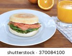 breakfast muffin  | Shutterstock . vector #370084100