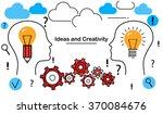 conceptual flat line... | Shutterstock .eps vector #370084676