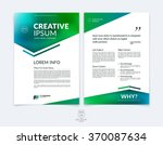 business brochure  flyer and... | Shutterstock .eps vector #370087634
