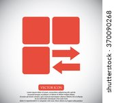 infographic styled vector  cube ... | Shutterstock .eps vector #370090268