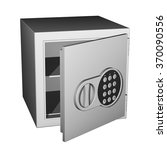 empty safe with a opened door... | Shutterstock .eps vector #370090556