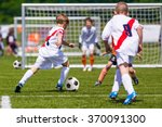 training and football match... | Shutterstock . vector #370091300