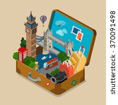 suitcase full of sights... | Shutterstock .eps vector #370091498