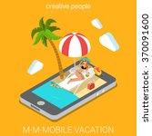 mobile beach resort virtual... | Shutterstock .eps vector #370091600