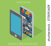 mobile background inwards flat... | Shutterstock .eps vector #370091609