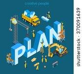 plan creation process flat 3d... | Shutterstock .eps vector #370091639