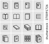 vector line book icon set. | Shutterstock .eps vector #370091726