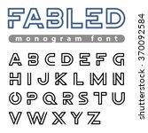 monogram logo font vector... | Shutterstock .eps vector #370092584