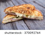 ham and cheese sandwich on... | Shutterstock . vector #370092764