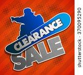 clearance sale banner in pop... | Shutterstock .eps vector #370095290