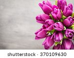 Purple Tulip Bouquet On The...