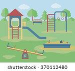 kids playground. vector... | Shutterstock .eps vector #370112480