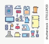 outline icons on a theme a... | Shutterstock .eps vector #370113920