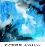 blue and black watercolor... | Shutterstock . vector #370114730