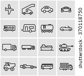 vector line vehicles icon set. | Shutterstock .eps vector #370118750