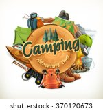 camping  adventure time vector... | Shutterstock .eps vector #370120673