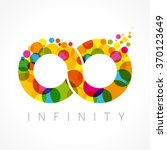infinity loop logotype. stained ... | Shutterstock .eps vector #370123649