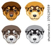puppy' muzzle. set of vector... | Shutterstock .eps vector #370129559