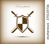 sword and shield icon | Shutterstock .eps vector #370135736