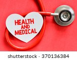 stethoscope and heart symbol... | Shutterstock . vector #370136384