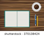 flat lay illustration with a... | Shutterstock .eps vector #370138424
