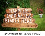 happily ever after sign on... | Shutterstock . vector #370144439
