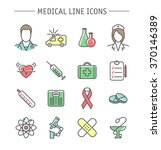 medical icons set. colorful... | Shutterstock . vector #370146389