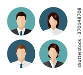 business people icons isolated... | Shutterstock . vector #370148708