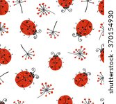 Ladybugs Seamless Pattern....