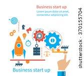 start up new business project ... | Shutterstock .eps vector #370155704