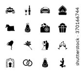 wedding icons set. wedding... | Shutterstock .eps vector #370166744
